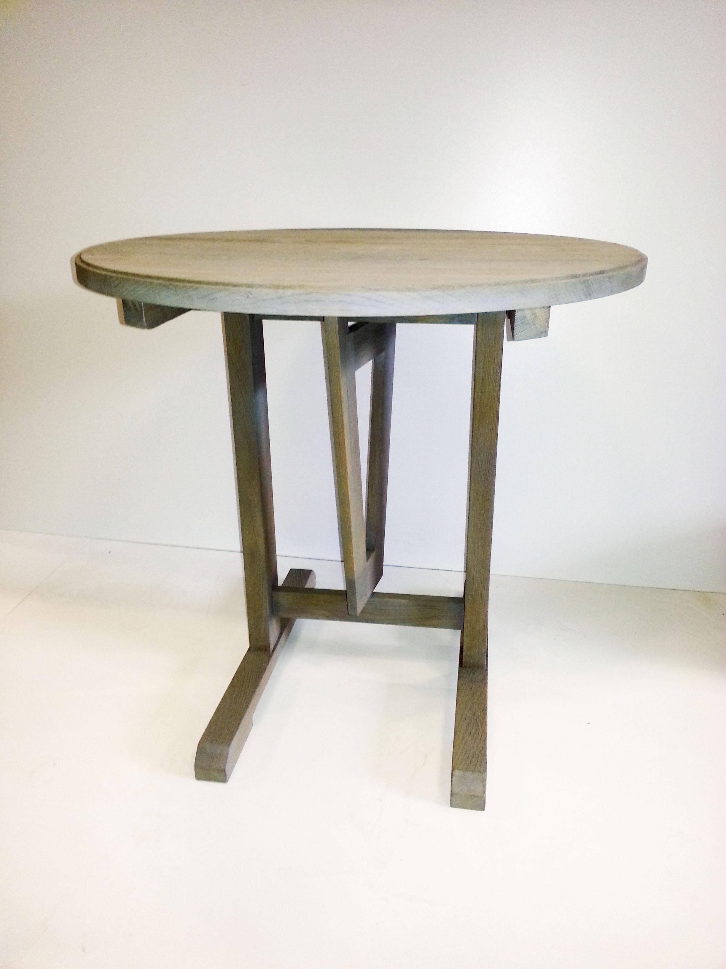 tafel, massief eiken, zandstralen, monocoat, interieur, meubel