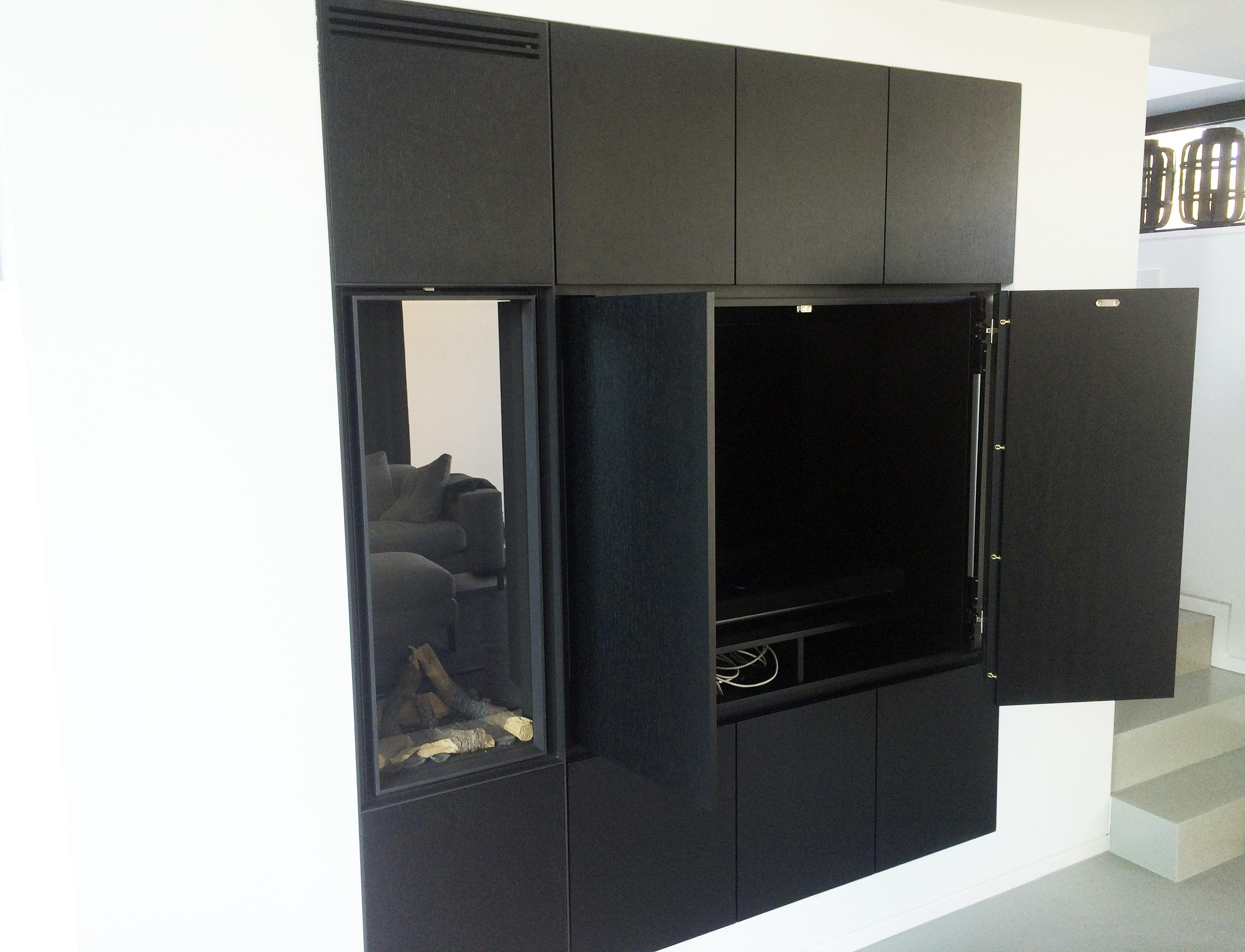Sfeerhaard Tv Meubel : Op maat gemaakte haardkast en tv meubel! u2013 spijkervast